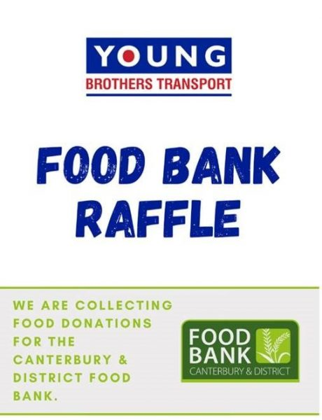 We are collecting food donations for the Canterbury & District food bank.